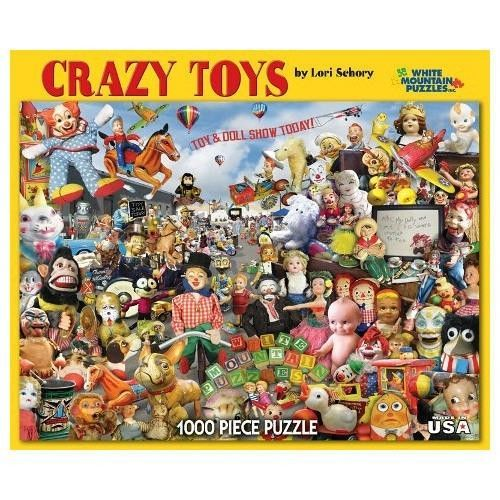 CRAZY TOYS 1000 piece Jigsaw Puzzle classic old vintage toys Brand NEW Sealed #WhiteMountain