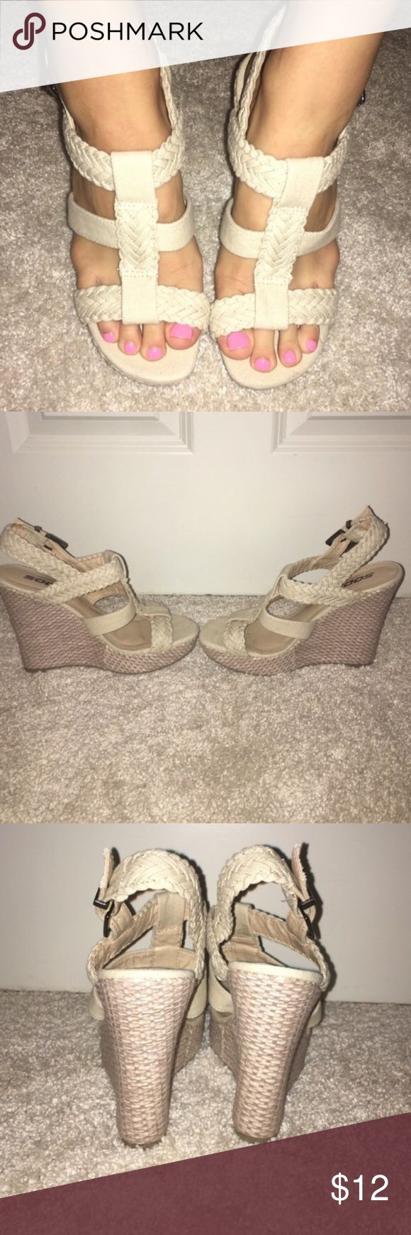 Soda cream wedges These are reserved for @amerikanme Soda Shoes Wedges