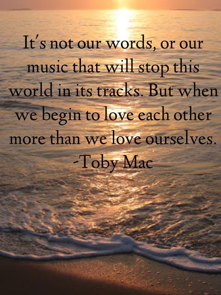 Positive Spiritual Quotes: TobyMac Quotes. QuotesGram