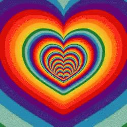 Te Quiero GIF - Te Quiero RainbowHearts - Discover & Share GIFs
