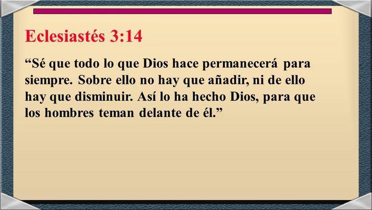 ECLESIASTÉS 3:14  #DiosTeAmaayPeleaporsusHijos...