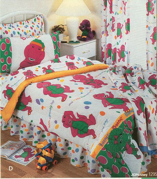 Barney the Dinosaur Sheets and Comforter set