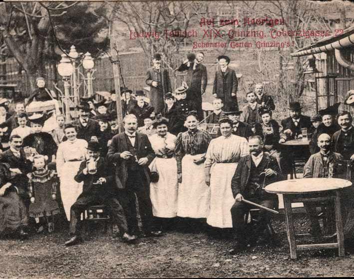 Wien 19, Cobenzlgasse, Heuriger Tobisch um 1900  Historic Vienna  Pinterest -> Vintage Möbel Vienna