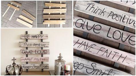diy houten tekstborden