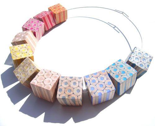 jewellery made of pencils - Buscar con Google