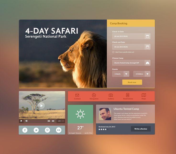 I ike the use of natural lighting here Flat Web UI : Safari