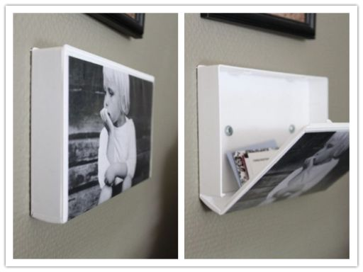 How to make DIY secret hiding storage picture frame with used VHS tape case