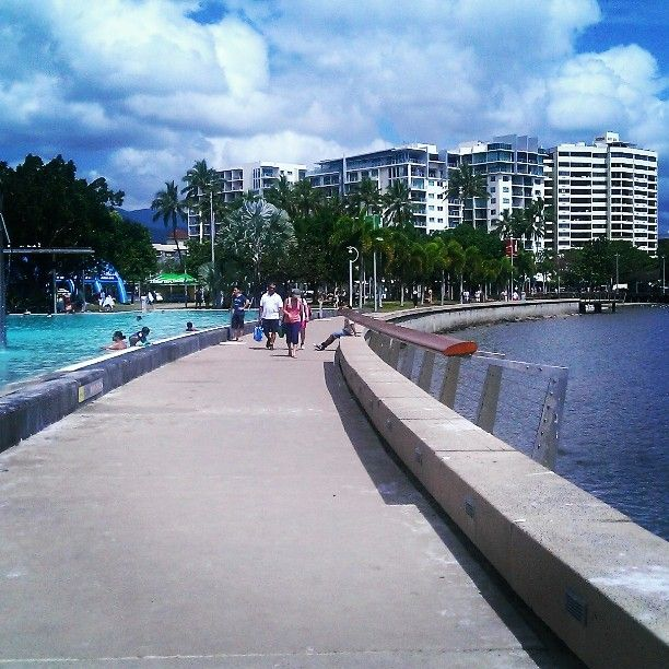 A different view of Cairns Esplanade... a pleasant walk on the pathway between the Lagoon and the Coral Sea.