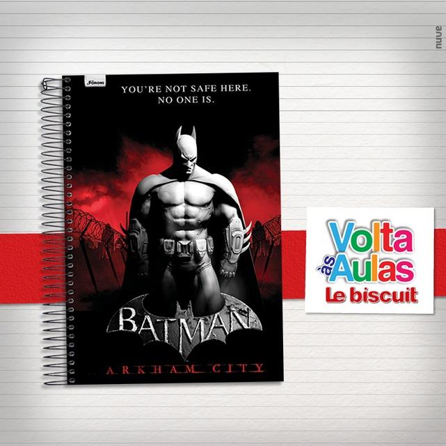 As notas do seu filho nunca entrarão em perigo com este caderno do Batman. Ele vai virar o herói da escola!