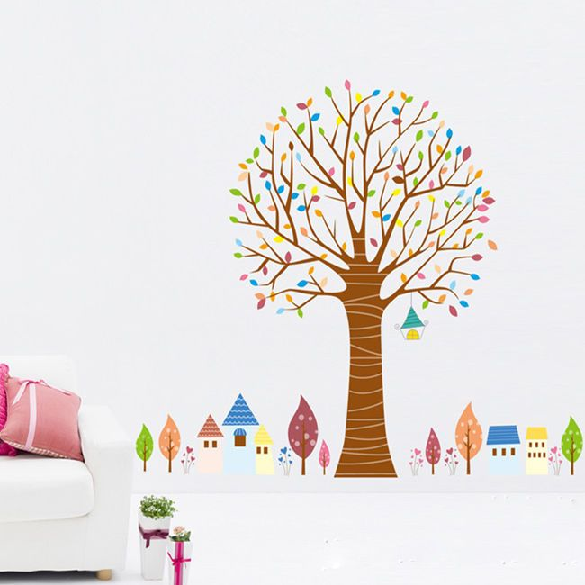 Kids Room Colorful Tree Removable Vinyl Mural Paper Decor Decals Wall Stickers #UnbrandedGeneric #Modern