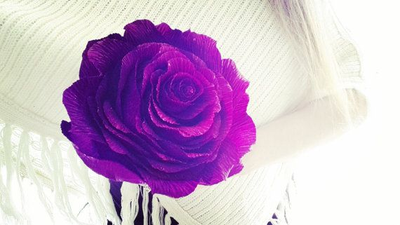 PURPLE GIGANT Paper Wedding Flower GIGANT  paper by moniaflowers