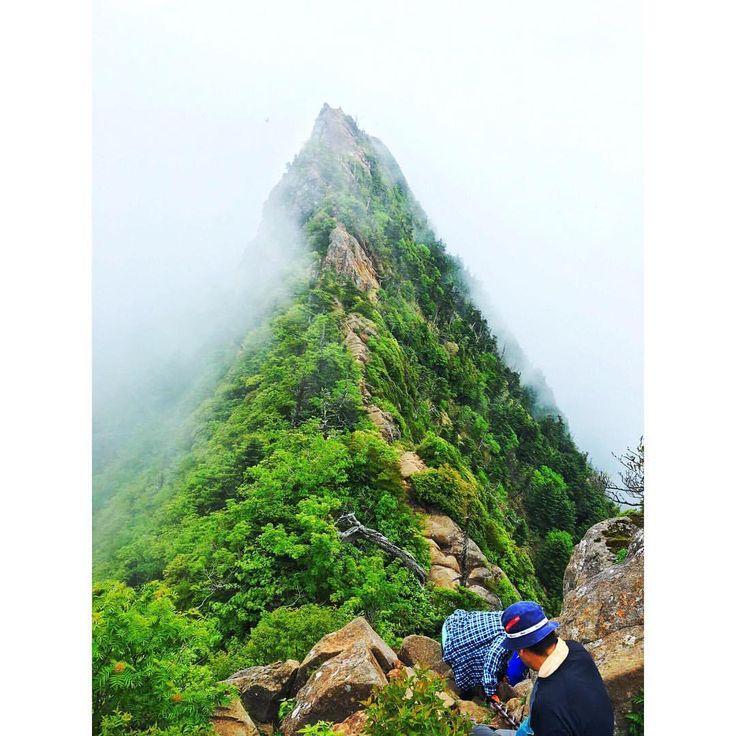 . . 過去pic📷 石鎚山2016.6.11 . . 山岳信仰の山、鎖場は挑戦できず、石鎚神社山頂社⛩で御朱印ゲット . . 弥山から最高峰の天狗岳に登って行く写真📷、山頂はガスガス . . 行きはロープウェイを使わず西ノ川登山口から、帰りは疲れて思わず乗ってしまった😢 . . #石鎚山#山登り#山登り好きな人と繋がりたい#登山#登山好きな人と繋がりたい#百名山 #西日本最高峰#天狗岳#弥山#石鎚神社山頂社#石鎚登山ロープウェイ#一の鎖#二の鎖#三の鎖#成就社#山欠