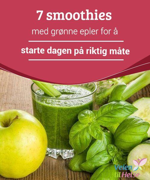 7 smoothies med grønne epler for å starte dagen på riktig måte  For å starte #dagen på riktig måte, prøv å #drikk en deilig og #næringsrik smoothie til frokost. Du #kommer til å elske det!