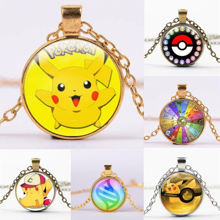 NEW Pokemon Pikachu Steampunk Jewelry Short Necklace Children Necklace Kids Pokemon Necklace Christmas Gift Girls