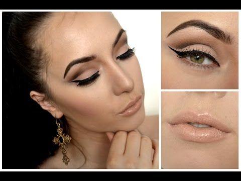 Sexy oči a nude rty ♥ Vyzkoušej můj oblíbený look - YouTube