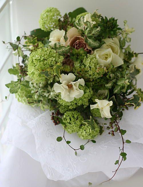 緑と実ものと ラ・ビュット・ボワゼ様の装花 : 一会 ウエディングの花