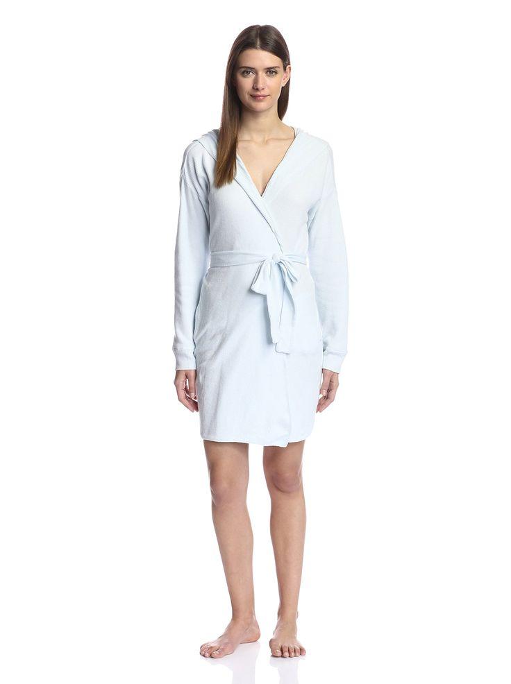 Skin Women's Waffle Robe, Artic Blue, 1/S