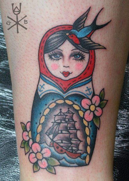 Best 25 russian doll tattoo ideas on pinterest doll for Russian style tattoo