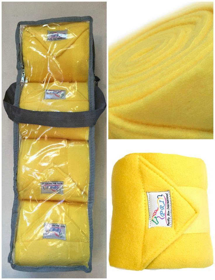 Sunflower Yellow Fleece Polo Wraps (Set of 4) at Bon-Vivant Unique Equestrian Supply