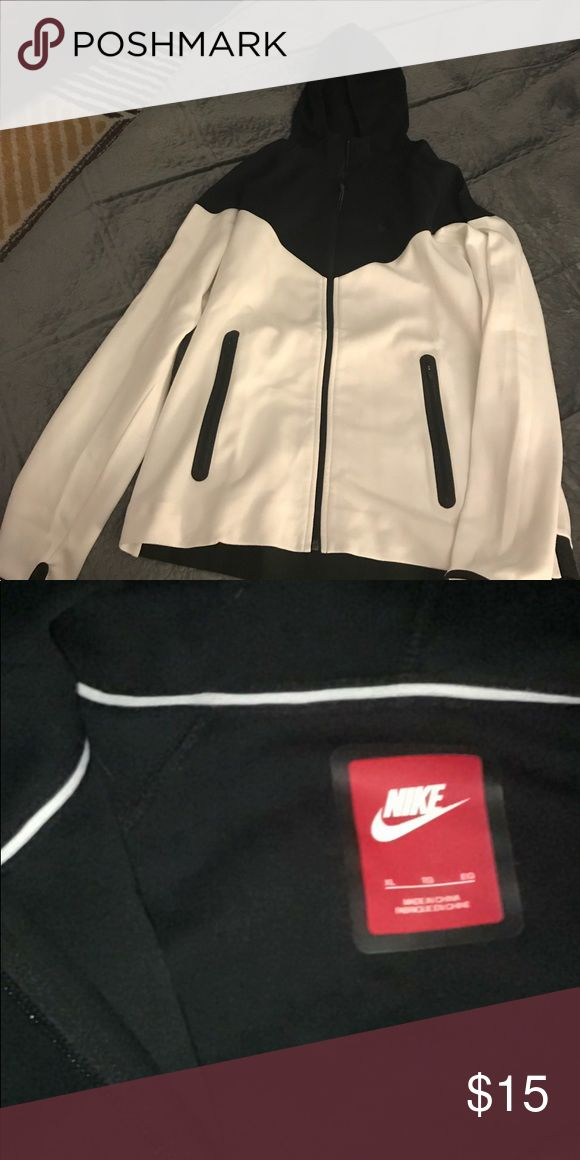 Nike zip up Black and white nike zip up hoodie Nike Tops Sweatshirts & Hoodies
