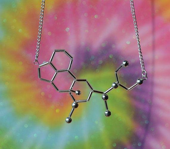 Biolojewelry -Lysergic Acid Diethylamide - LSD - Molecule Necklace