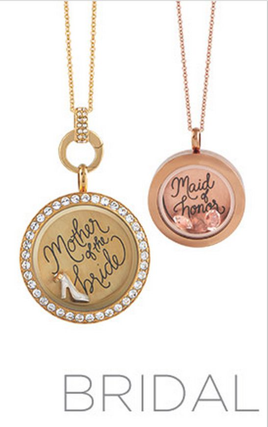 Origami Owl® Bridal Collection Lockets. Mother of the Bride & Maid of Honor Gifts. www.asaylor.origamiowl.com
