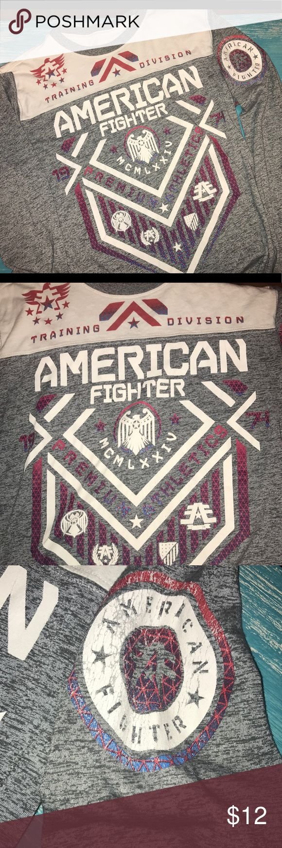 Boys Youth American Fighter tee EUC Boys youth large (12-14) American Fighter long sleeve tee. No trades and price not negotiable. However, qualifies for bundle pricing. American Fighter Shirts & Tops Tees - Long Sleeve