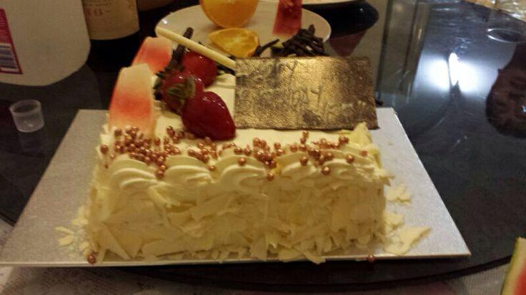 It's my birthday, strawberry meringue shortcake