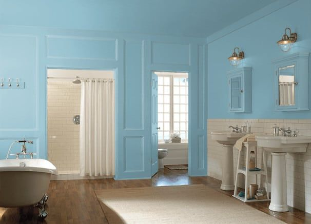 25 Of The Best Blue Paint Color Options For Primary Bathrooms In 2020 Best Blue Paint Colors Blue Paint Colors Bathroom