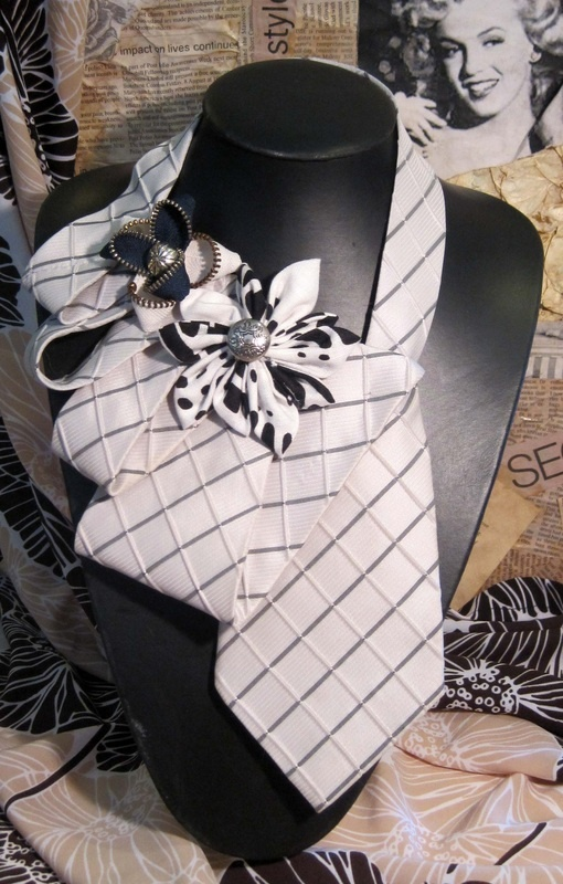 Love these upcycled ties.  Cute way to match husband, boyfriend, or fiance!