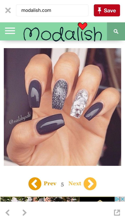 434 besten Nails Bilder auf Pinterest   Goldnageldesign, Haar und ...