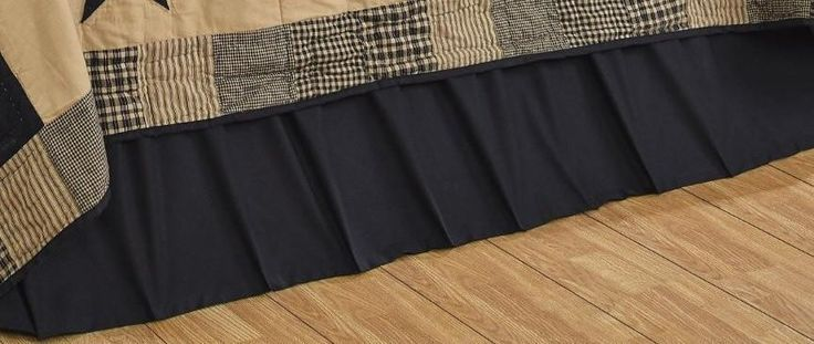 Bed Skirt Queen Solid Black Olivias Heartland 60 x 80 x 16 inch #OliviasHeartland