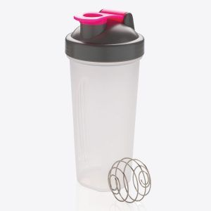 PromoBrand-Branded protein shaker with stainless steel blending ball. This shaker bottle suitable for all types of shakes and smoothies. Made out of PP material with stainless steel blending ball which acts like a whisk to make the drink even smoother without lumps. Capacity 800 ml.