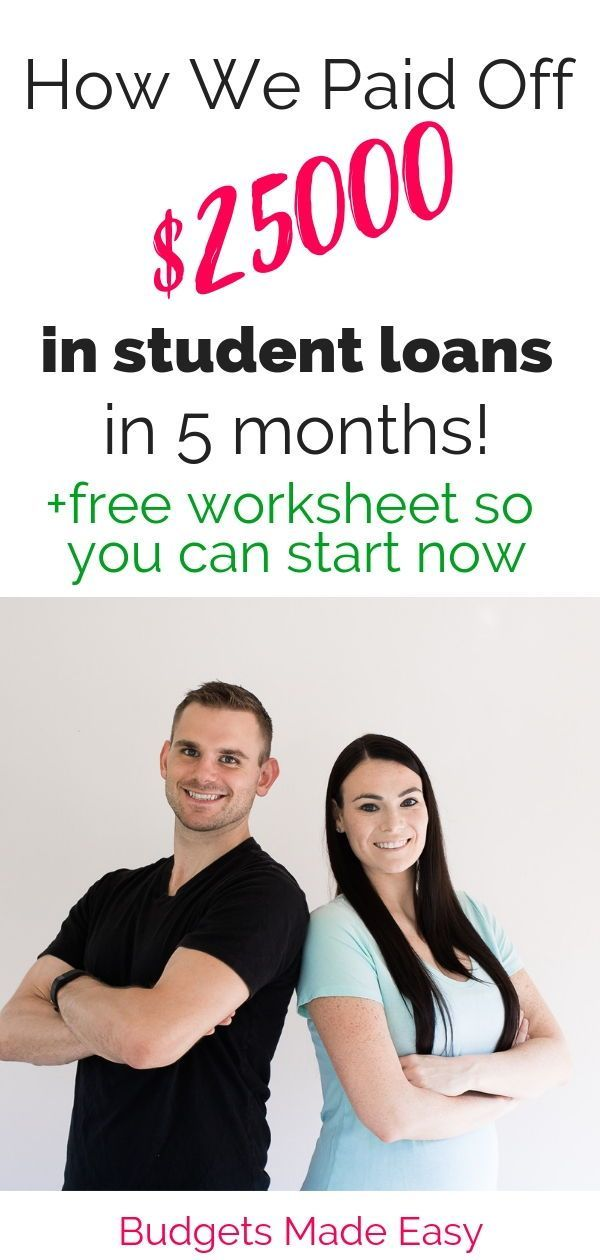 How We Paid Off $25000 in Student Loans FAST! How this couple paid off $25000 in student loans fast by working online. Paying off debt fast with a budget and frugal living.
