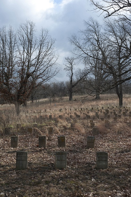 Unmarked graves at a state asylum.  They were once someones child, sibling, parent, or friend.  So sad.