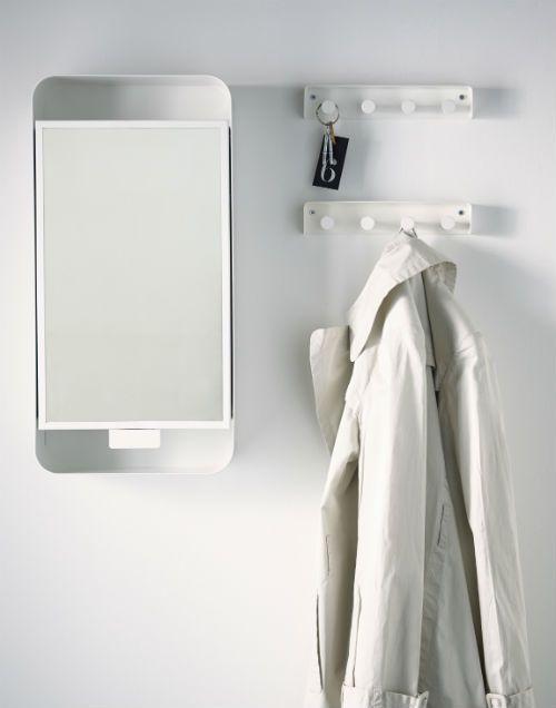 GUNNERN Mirror Cabinet With 1 Door, White
