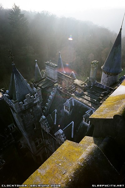 From the clocktower at Chateau Noisy, Celles, Belgium | fresh | urban exploration | sleepycity.net: Chateau Noisi, Photo
