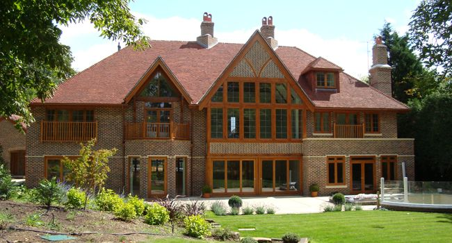 front elevation at the vines arts and crafts house new build project arts and craft georg. Black Bedroom Furniture Sets. Home Design Ideas