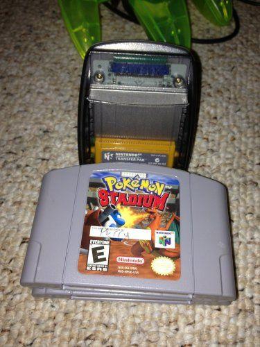 Pokemon Stadium with Transfer Pak (N64 Game & Accessory) Nintendo 64. N64 Video Game & Accessory. Nintendo 64 Transfer Pak. Nintendo 64 Pokemon Stadium Game.