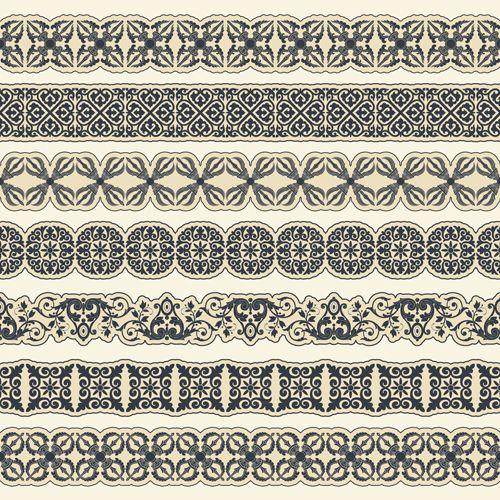 Ornament pattern borders vector material 01 - FreeDesignFile.com