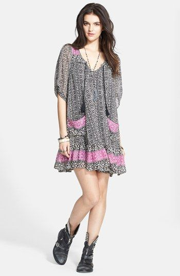 Free People 'Penny Lane' Print Tunic Dress available at #Nordstrom