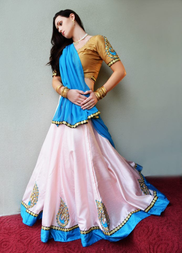 There She Glows in Jewel Tones | Dancing Gopi Skirt Outfits