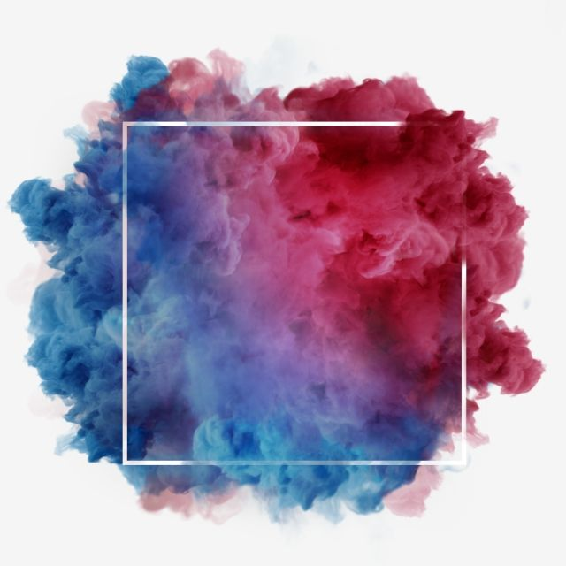 Red Blue Smoke Abstract Frame Art Watercolor Paint Electric Blue