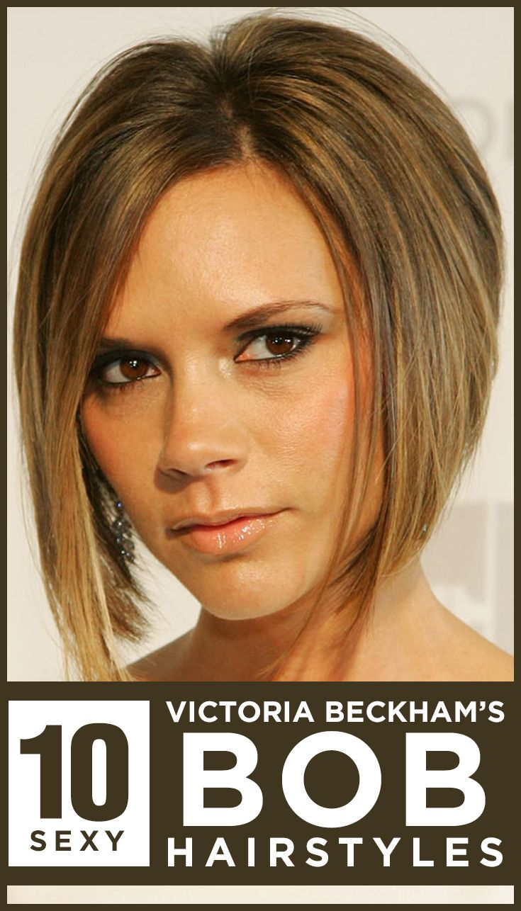 We can't get enough of Posh Spice's brown coloured bob with caramel highlights, especially when they are glossy and groomed. Contouring her jaw line, the angled bob is sexy and edgy, and it suits most face shapes. Click to know more