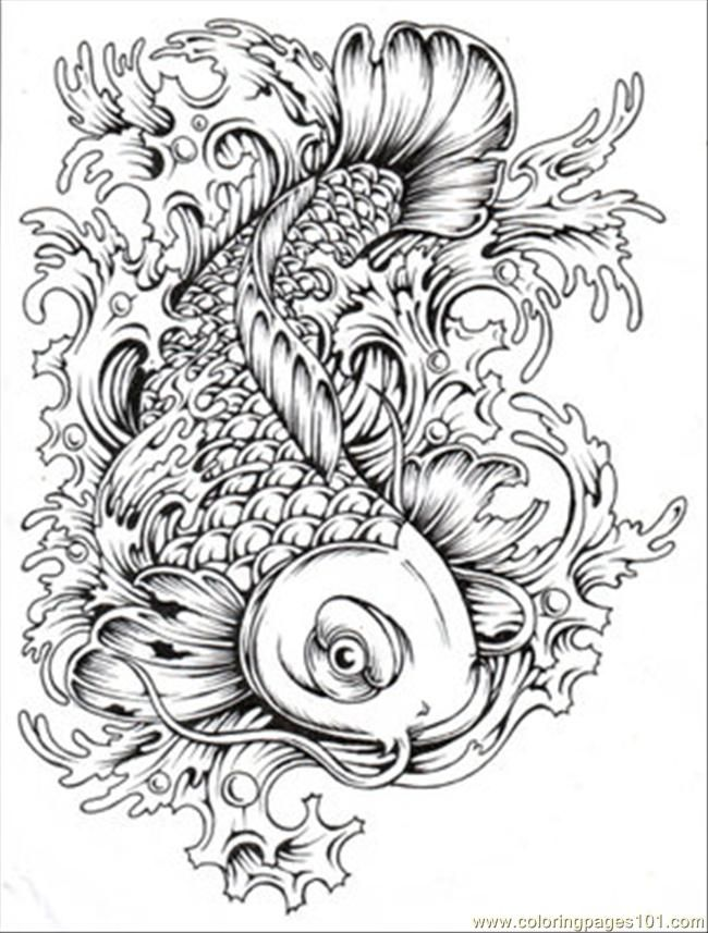 japanese koi coloring pages - photo#14