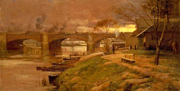 Arthur Streeton, Between the lights – Princes Bridge 1888
