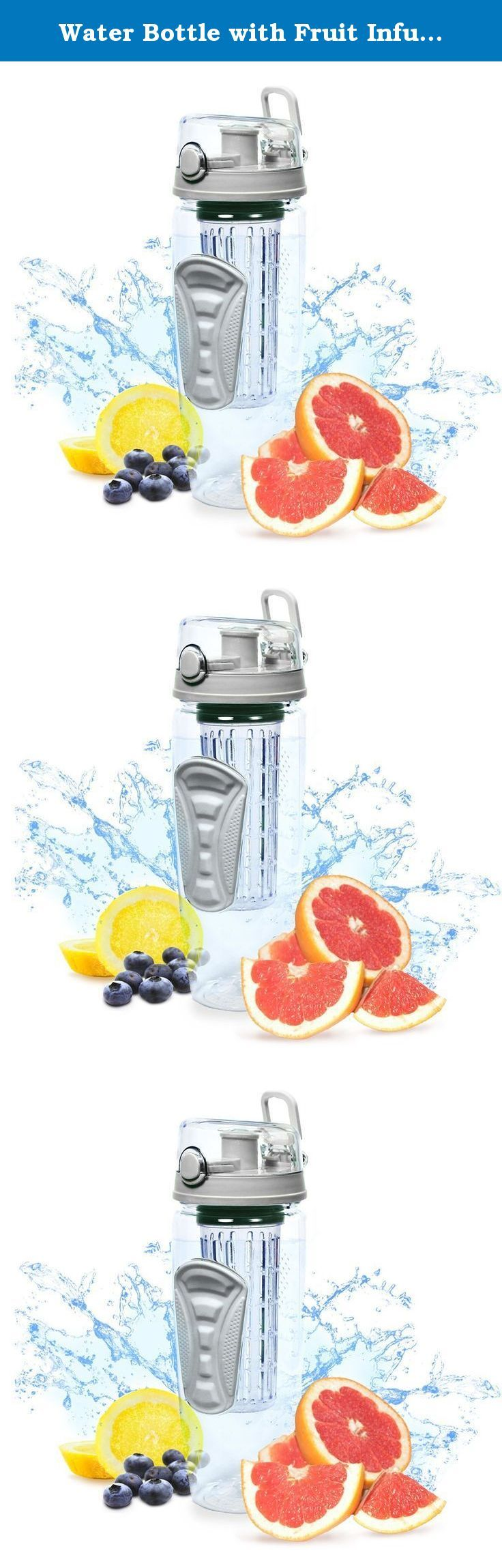 Water Bottle with Fruit Infuser (32oz) Fruit Infusion Blender Bottle drink mixer - w Flip Top Drinking Spout, Watertight, Enjoy Naturally Flavored Fruit Infused Water, Juice, Iced Tea and Lemonade - Made of Durable Tritan and BPA-free. 100% SATISFACTION GUARANTEED FEATURES: Made To Last Impact Resistant Eco-Friendly BPA Free Tritan Eastman Plastic Easy To Clean Our Fruit Infuser Tumbler is Dishwasher Safe and Hand Washable 32 oz - The Perfect Size Fruit Infuser To Help You Drink Your…