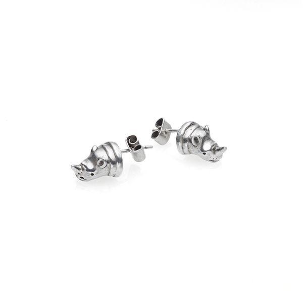 PUSHMATAaHA // Rhino Stud Earrings / Sterling Silver