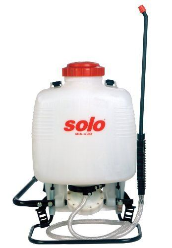 Solo 473-ECS 3-Gallon Backpack Sprayer by Solo. $86.91. Ideal for general spraying chores. 22-inch non-corroding wand with comfortable shut-off valve for extended reach. Spray nozzle adjustable from jet stream to fine mist for multiple spraying tasks. 3-gallon capacity. Quality in an economical package. This full-featured sprayer in an economical package is perfect for homeowners. Use for general-purpose spraying, gardening applications and pest control. Also works great with ...