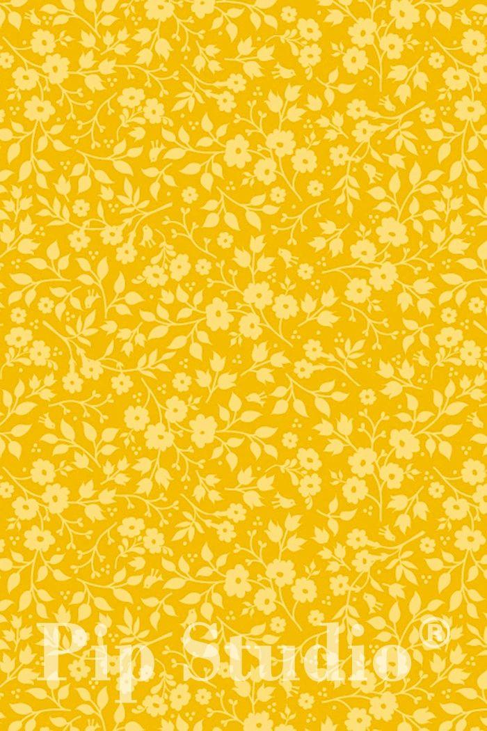 PiP Lovely Branches Geel behang Deze is in het echt veel mooier!